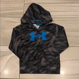 Like New UNDER ARMOUR Boys ZIP up Hoodie Sz 7